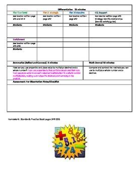 Chapter 4 Lesson 3 Grade 5 Go Math Lesson Plan
