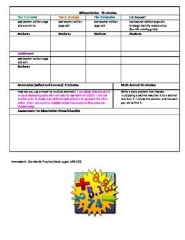 Chapter 4 Lesson 6 Grade 5 Go Math Lesson Plan
