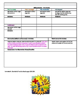 Chapter 4 Lessons 1-8 Bundled Go Math Lesson Plans