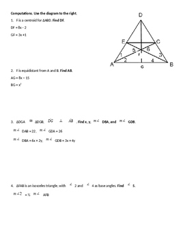 Chapter 4 Review Packet: Triangles