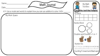 Chapter 4 Subtraction Math Journal