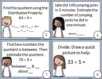 4th Grade Math Center Division Review
