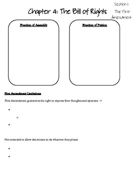American Govt: Chapter 4: The Bill of Rights PowerPoint Notes