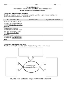 Chapter 4 We Beat the Street- Graphic Organizers and Personal Response