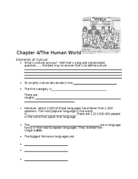 Chapter 4 power notes elements of culture