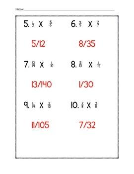 Chapter 4.1 Quiz - Math In Focus - 5th Grade