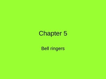 Chapter 5 Bell Ringers for Speech