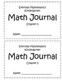 Chapter 5 Everyday Math Kindergarten Journal