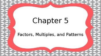 Chapter 5 Go Math Objectives and Essential Questions