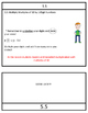 Chapter 5 Go Math Review Packet, 3rd grade