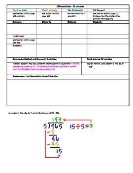 Chapter 5 Lesson 1 Grade 5 Go Math Lesson Plan