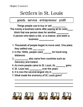 Chapter 5 Lesson 1 Settlers in St. Louis