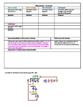 Chapter 5 Lesson 2 Grade 5 Go Math Lesson Plan