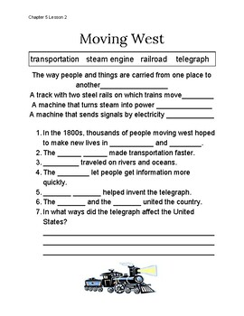 Chapter 5 Lesson 2 Moving West