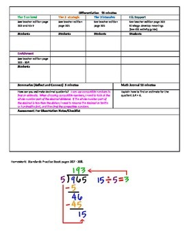 Chapter 5 Lesson 3 Grade 5 Go Math Lesson Plan