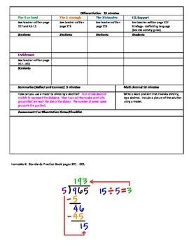 Chapter 5 Lesson 5 Grade 5 Go Math Lesson Plan