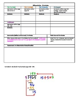 Chapter 5 Lesson 7 Grade 5 Go Math Lesson Plan