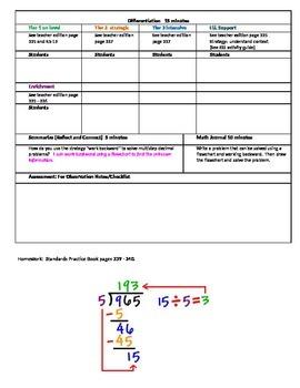 Chapter 5 Lesson 8 Grade 5 Go Math Lesson Plan