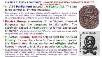 McGraw Hill US History Chapter 5 Powerpoint
