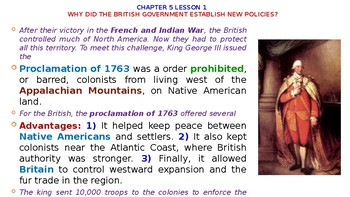 """McGraw Hill US History Chapter 5 Powerpoint """"The Spirit of Independence"""""""