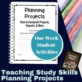 Study Skills Course Curriculum - Research and Planning Projects