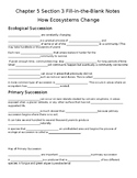 Chapter 5 Section 3 Fill-in -the Blank Notes How Ecosystem
