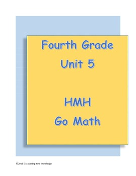 Math - 4th Grade HMH Unit 5