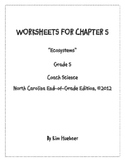 Chapter 5 Worksheets - 5th Grade Coach Science book - North Carolina Edition