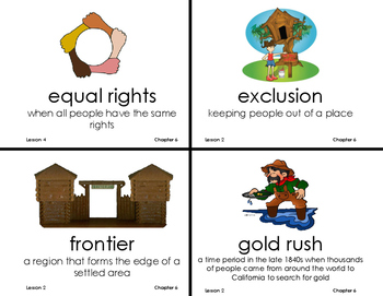 Chapter 6 A Growing Nation Vocab - Grade 3