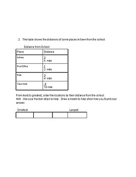 Chapter 6 Go Math Grade 4 Modified Test