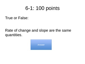 Chapter 6 Jeopardy Game