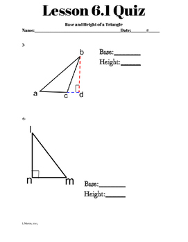 Chapter 6 Lesson 1 Quiz