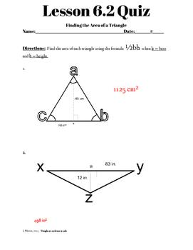 Chapter 6 Lesson 2 Quiz