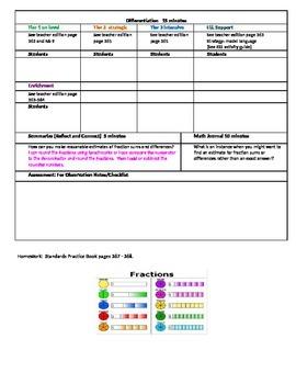 Chapter 6 Lesson 3 Grade 5 Go Math Lesson Plan