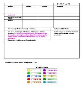 Chapter 6 Lesson 4 Grade 5 Go Math Lesson Plan