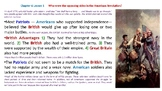 "McGraw Hill US History Chapter 6 Powerpoint ""The America Revolution"""