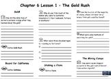 Ch. 6  California Gold Rush Notes Bundle Lesson 1-3