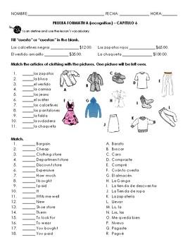 Chapter 6 vocab quiz (clothing)