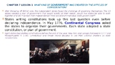 """McGraw Hill US History Chapter 7 Powerpoint """"A More Perfect Union"""""""