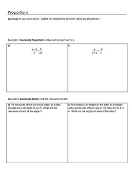 Geometry Notesheets: Chapter 7 Similarity