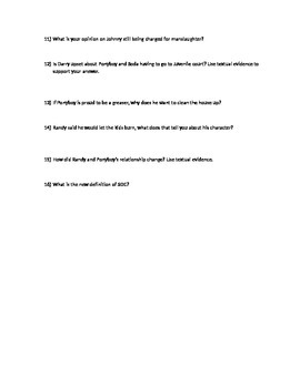 Chapter 7 The Outsiders questions