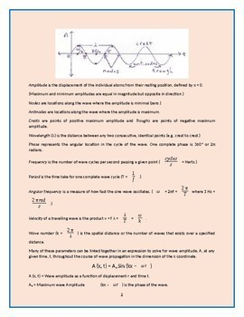 """Physics Lectures - Chapter 7. """"Wave Motion & Sound"""""""