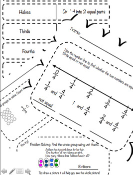Chapter 8 Go Math Review Packet- Worksheets & Vocabulary
