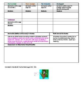 Chapter 8 Lesson 4 Grade 5 Go Math Lesson Plan