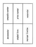 Chapter 8 Math Vocabulary Cards (4th Grade)