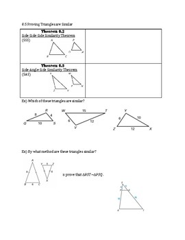 Chapter 8 Notes Geometry (Fill in the Blank, Scaffolded)