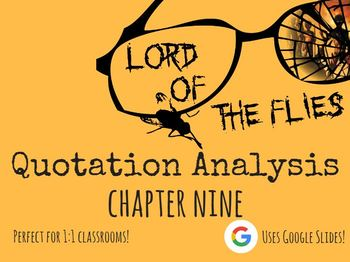 Chapter 9 Lord of the Flies Quote Analysis