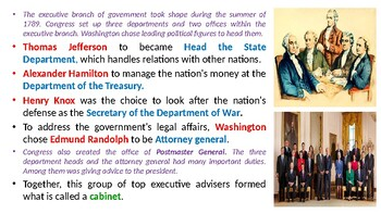 """McGraw Hill US History Chapter 9 Powerpoint """"The Federalist Era"""""""