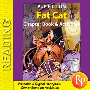 Chapter Book & Activities - Pup Fiction Adventures: Fat Cat {Freebie}