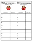 Chapter Book Bookmark:  Editable :  American Reading Challenge 2R : IRLA